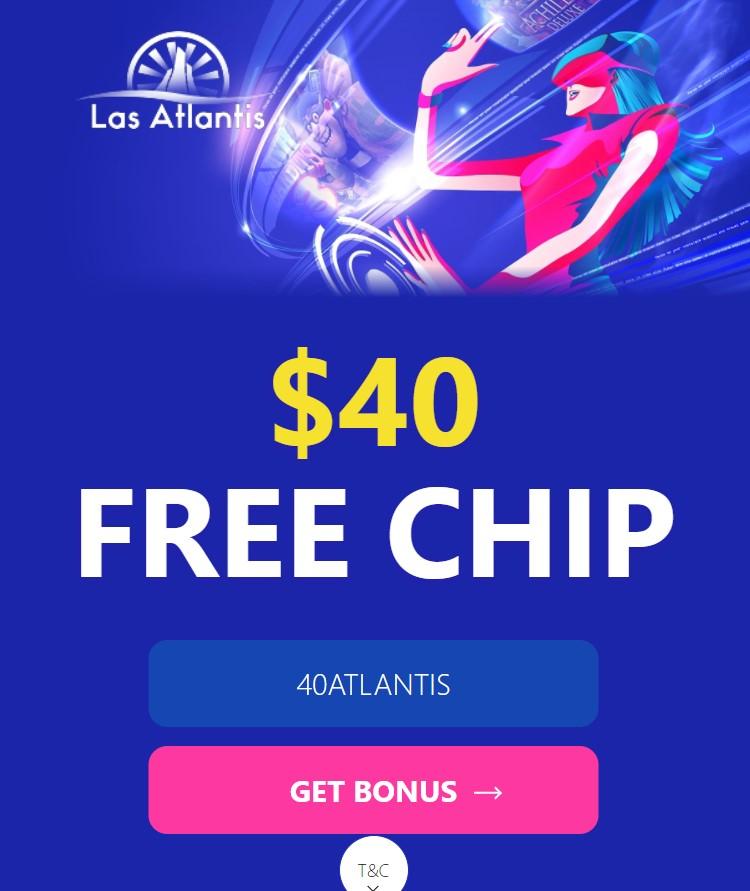 "$40 Fee Chip No Deposit Bonus Codes ""40Atlantis"""