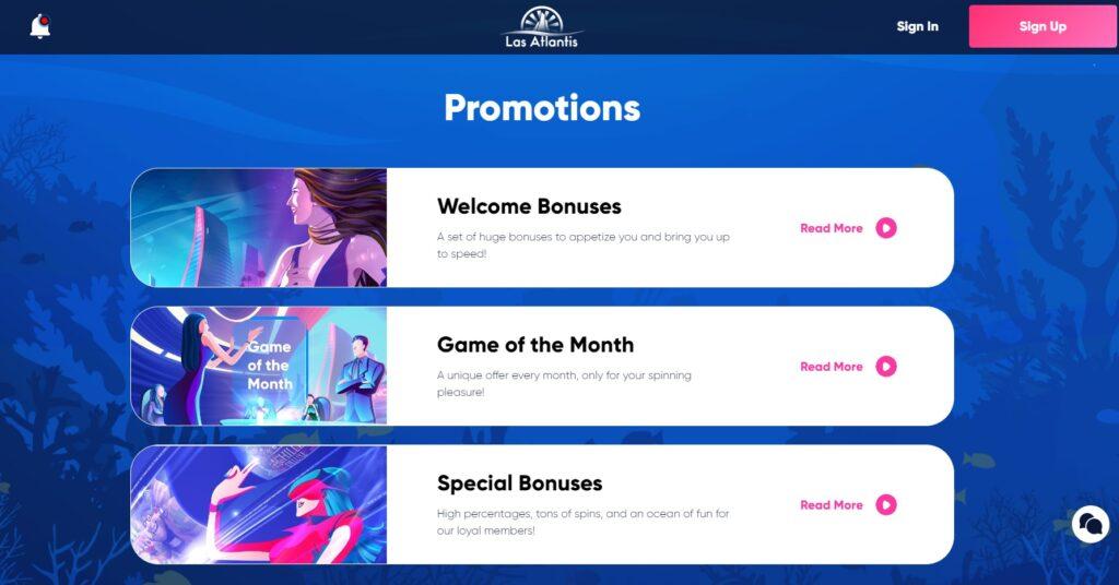 Las Atlantis Casino Bonus