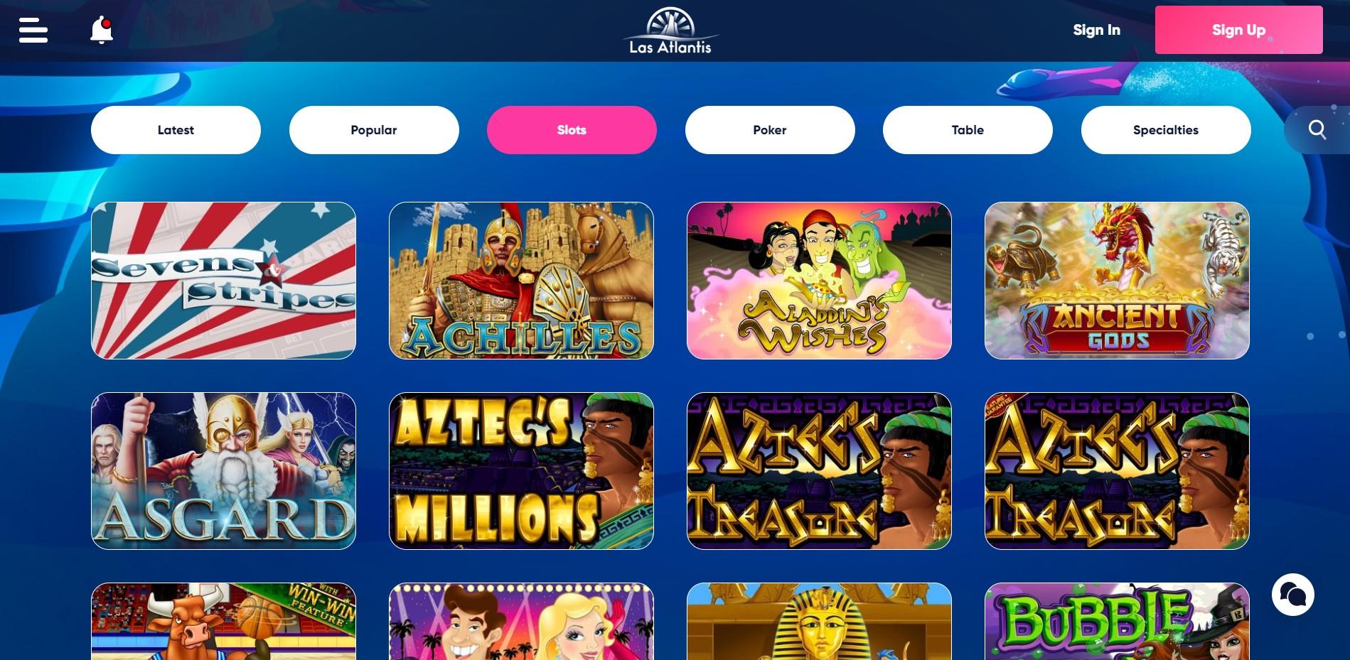 Las Atlantis Casino - Online Slots
