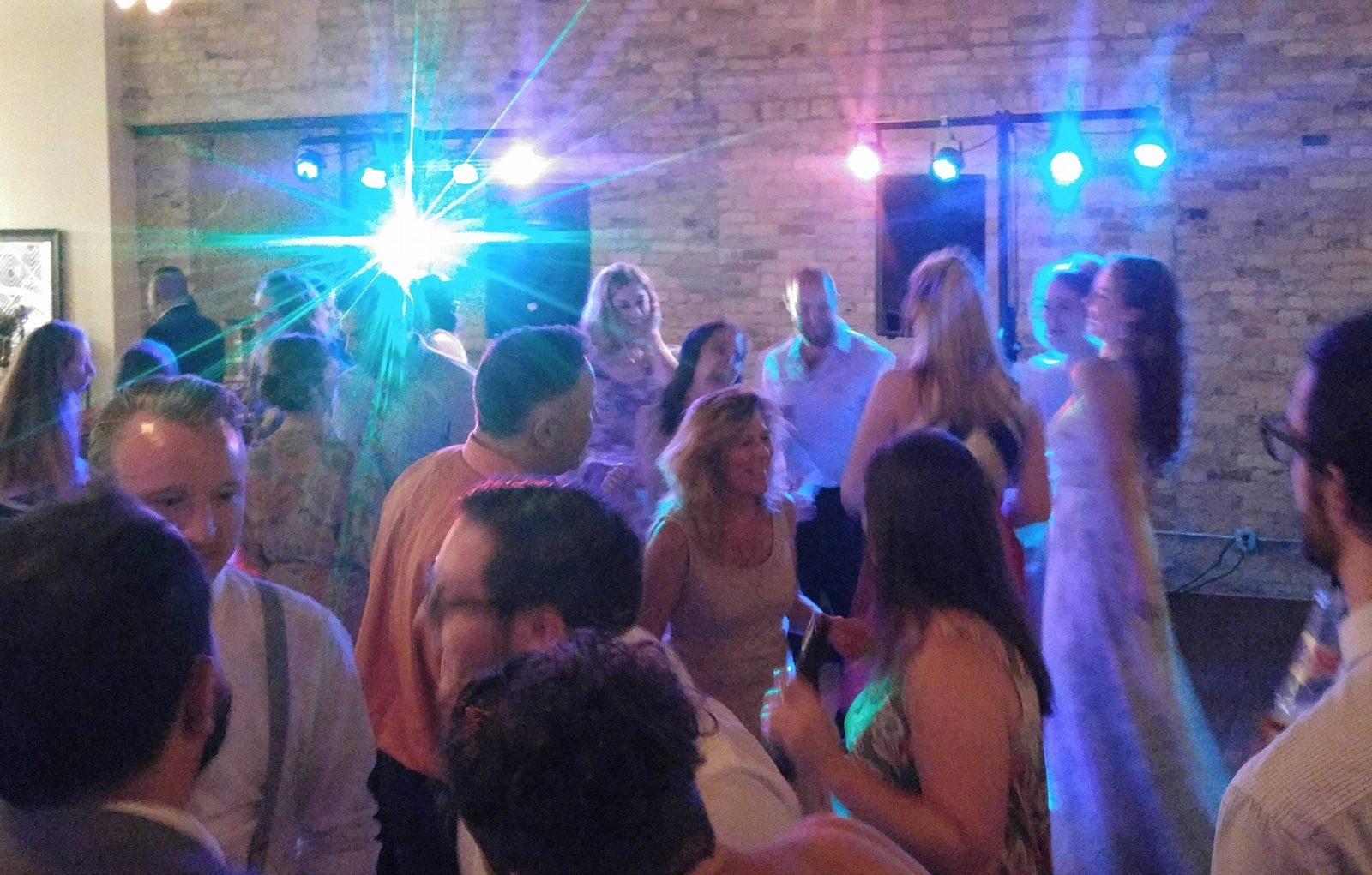 Milwaukee Wedding Guests on the dance floor DJ Services from Milwaukee Underground Productions