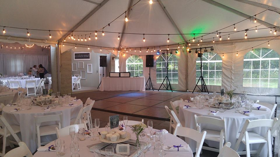 Outdoor wedding reception DJ Services by Milwaukee Underground Productions The Knot's Best of Weddings Award Winner