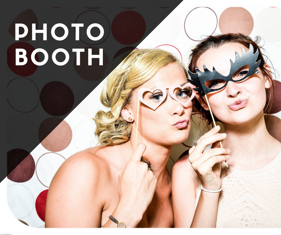 Photobooth service with printed photos and fun props from Milwaukee Underground Productions