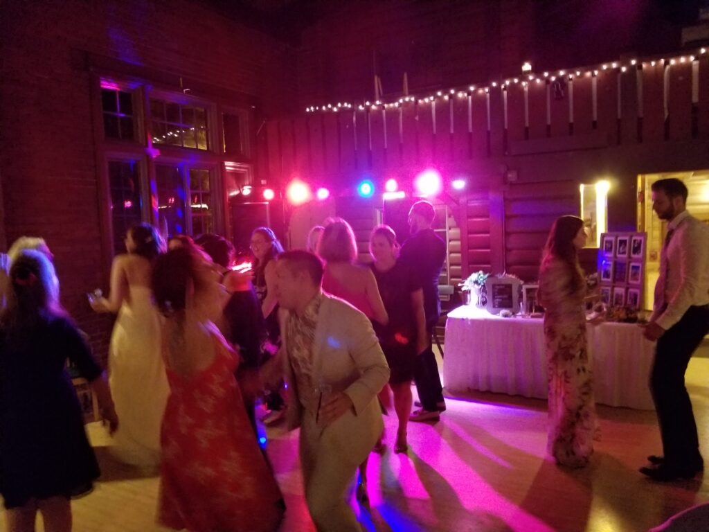 wedding guests dancing at hubbard park in shorewood, wi - dj services