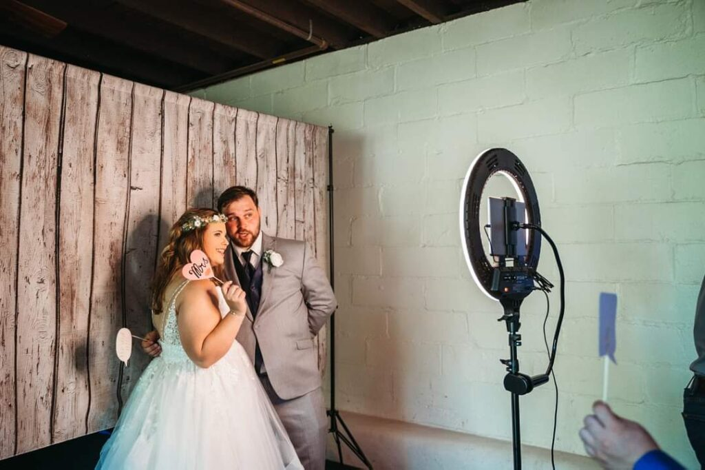 Photo Booth set-up with DJ Eric