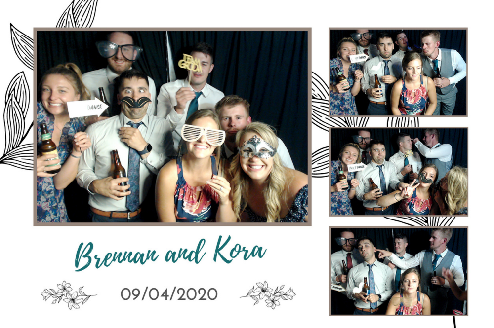 Complete photo booth template with pictures
