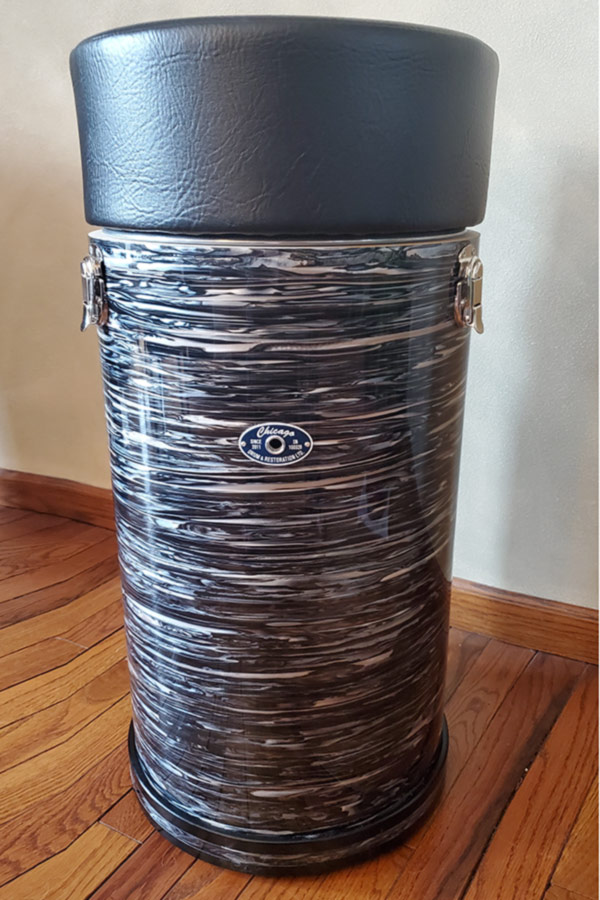 27-inch 60s Black Oyster Canister Throne