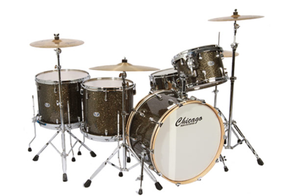 Grey Glass Glitter Drum Set