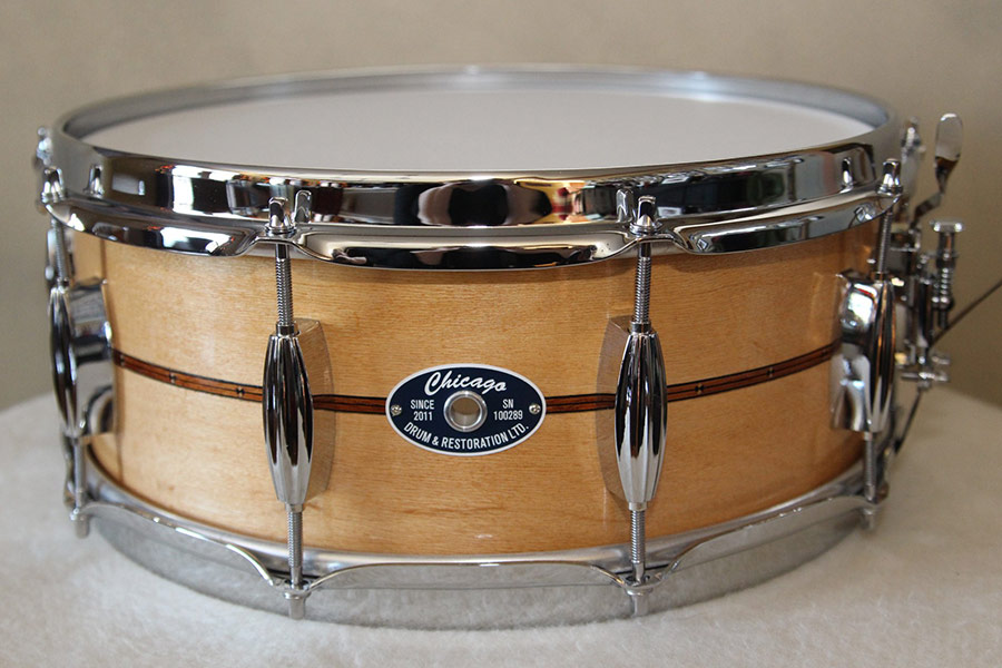 Maple Snare Drum with Inlay