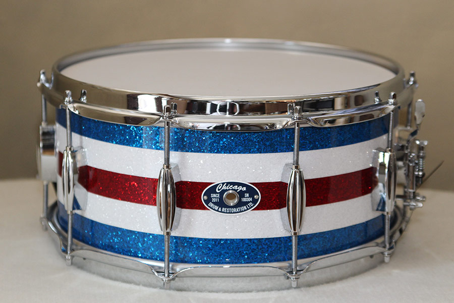 Red, White & Blue Sparkle Snare Drum