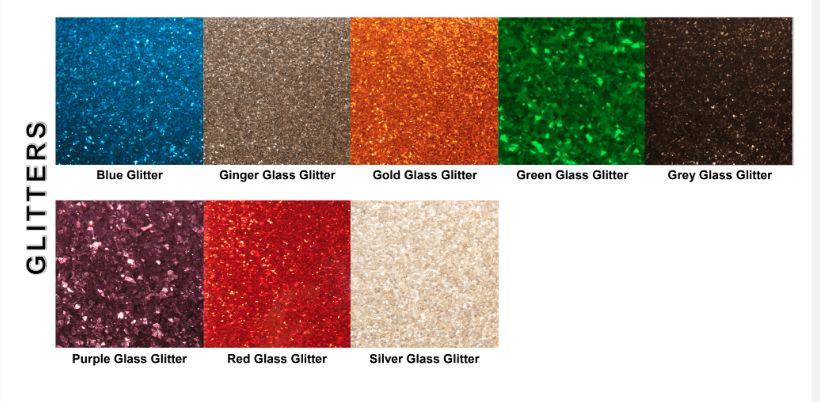 Glitter styles & colors