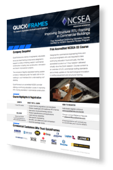 NCSEA Accredited Course Overview - QuickFrames