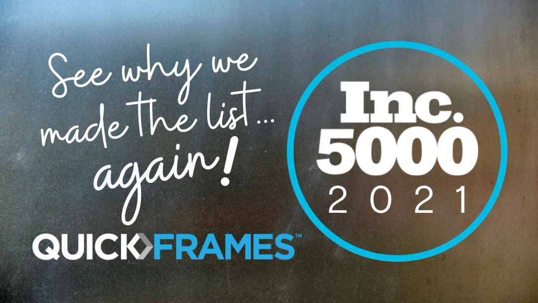 QuickFrames makes Inc.5000 list second year running