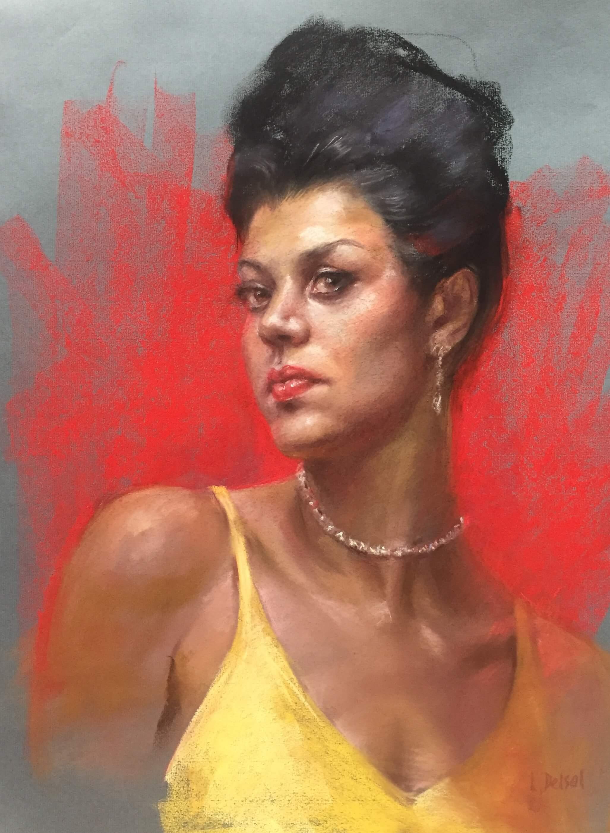 pastel portrait image