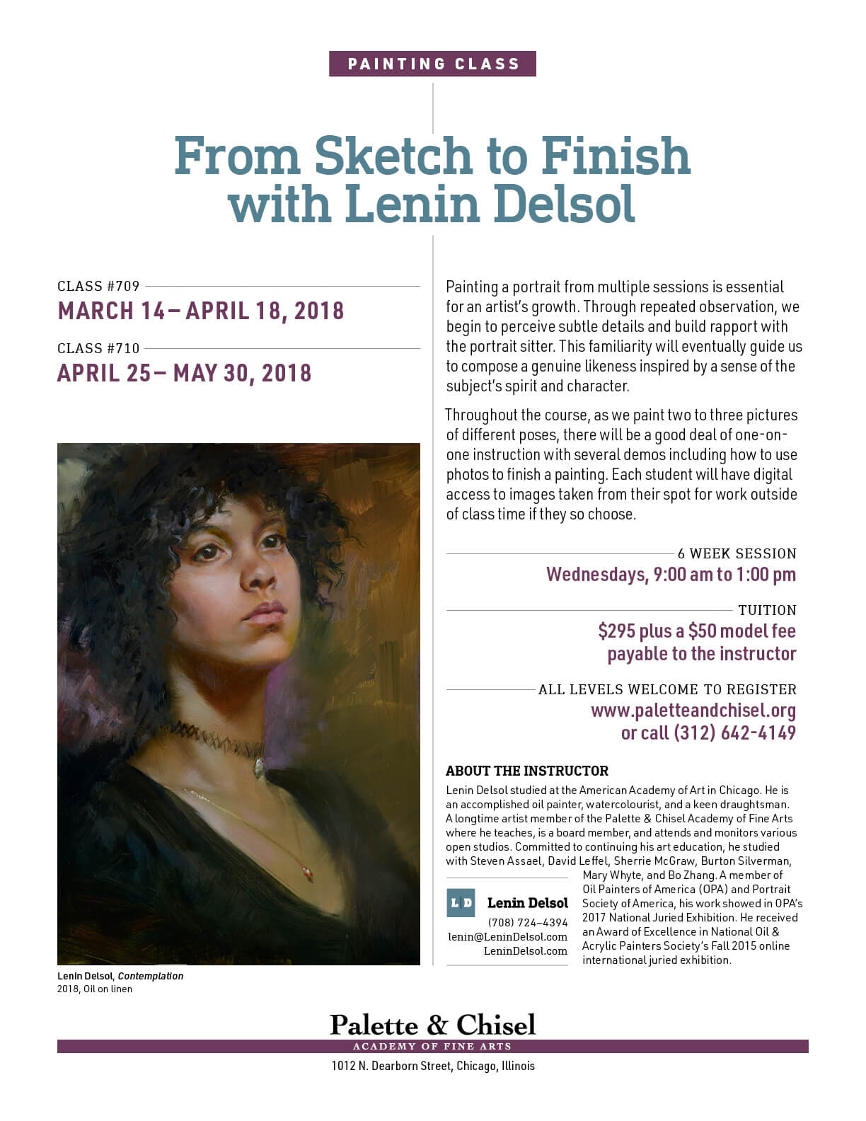 From Sketch To Finish with Lenin Delsol Spring 2018 Sessions