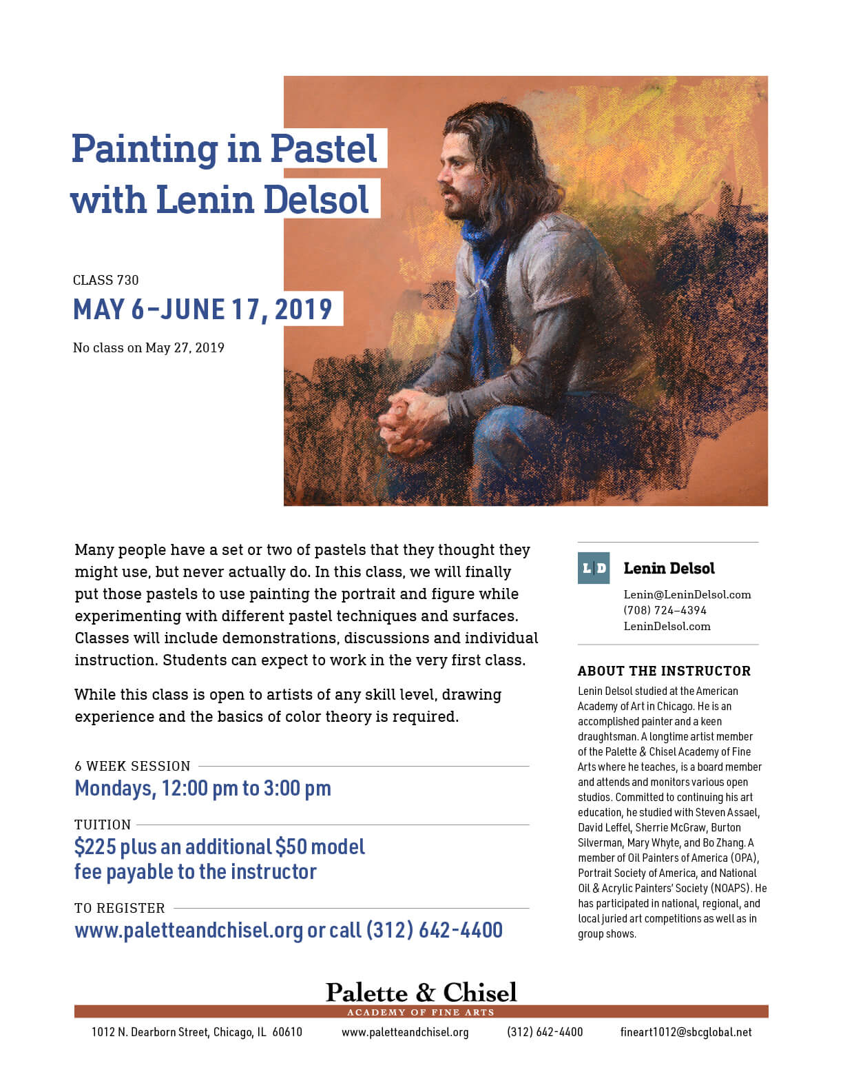 Painting in Pastel with Lenin Delsol Class flyer