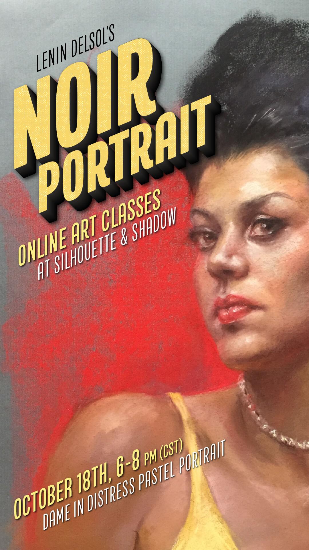 Class Promo for Lenin Delsol's Noir Portrait Online Classes