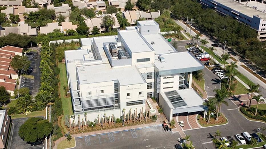 Lynn Cancer Institute Landscape Architecture Aerial