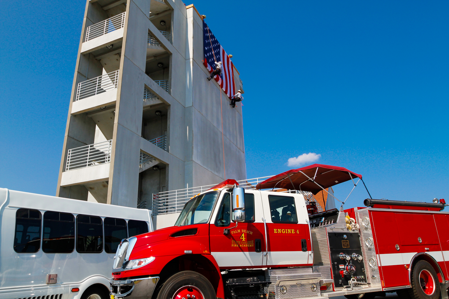 Palm Beach State College Lake Worth Fire Tower Bus