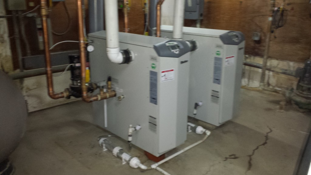 Hot water for 232 apartments