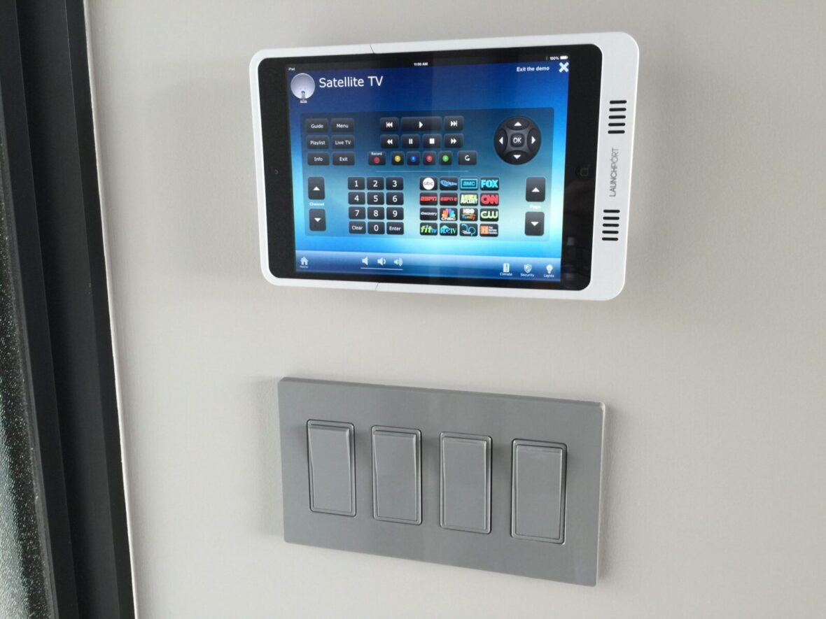 Home Smart System iPad Located in kitchen