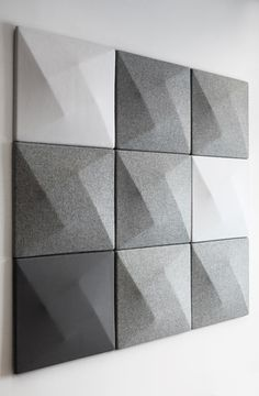 Grey shades of acoustic panels
