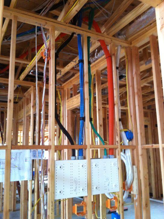 Prewire job done near start of build