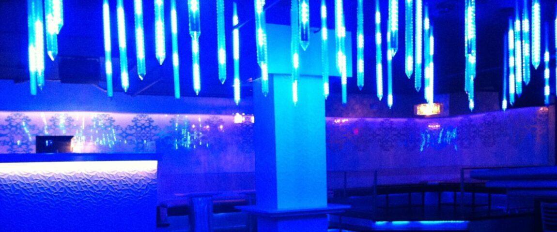 Night club interior Lighting with ceiling led lighting, and smart wall led lighting
