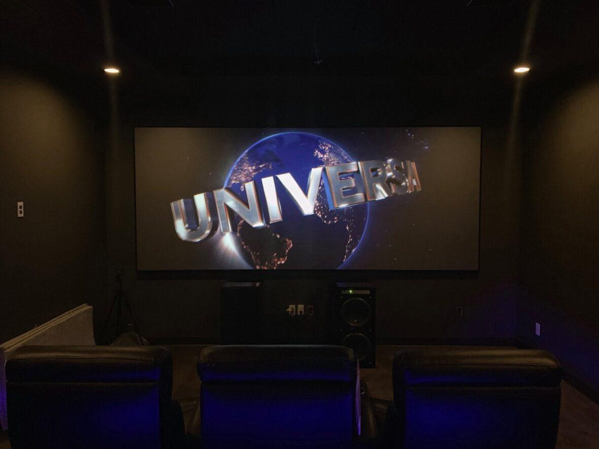 Custom short throw laser projector Theater Screen
