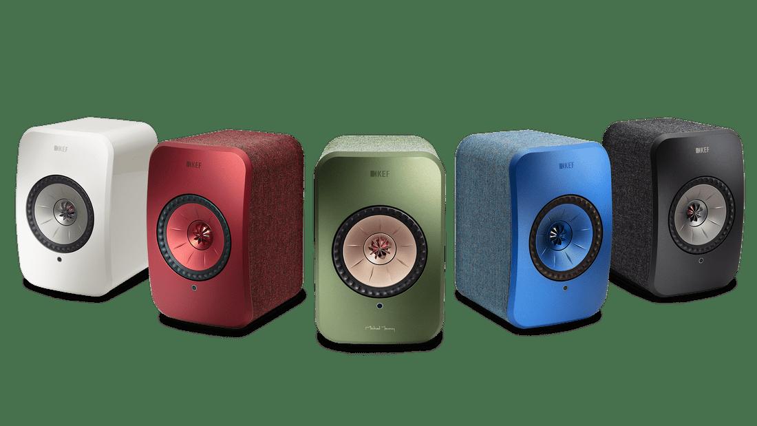 KEF group colored speakers