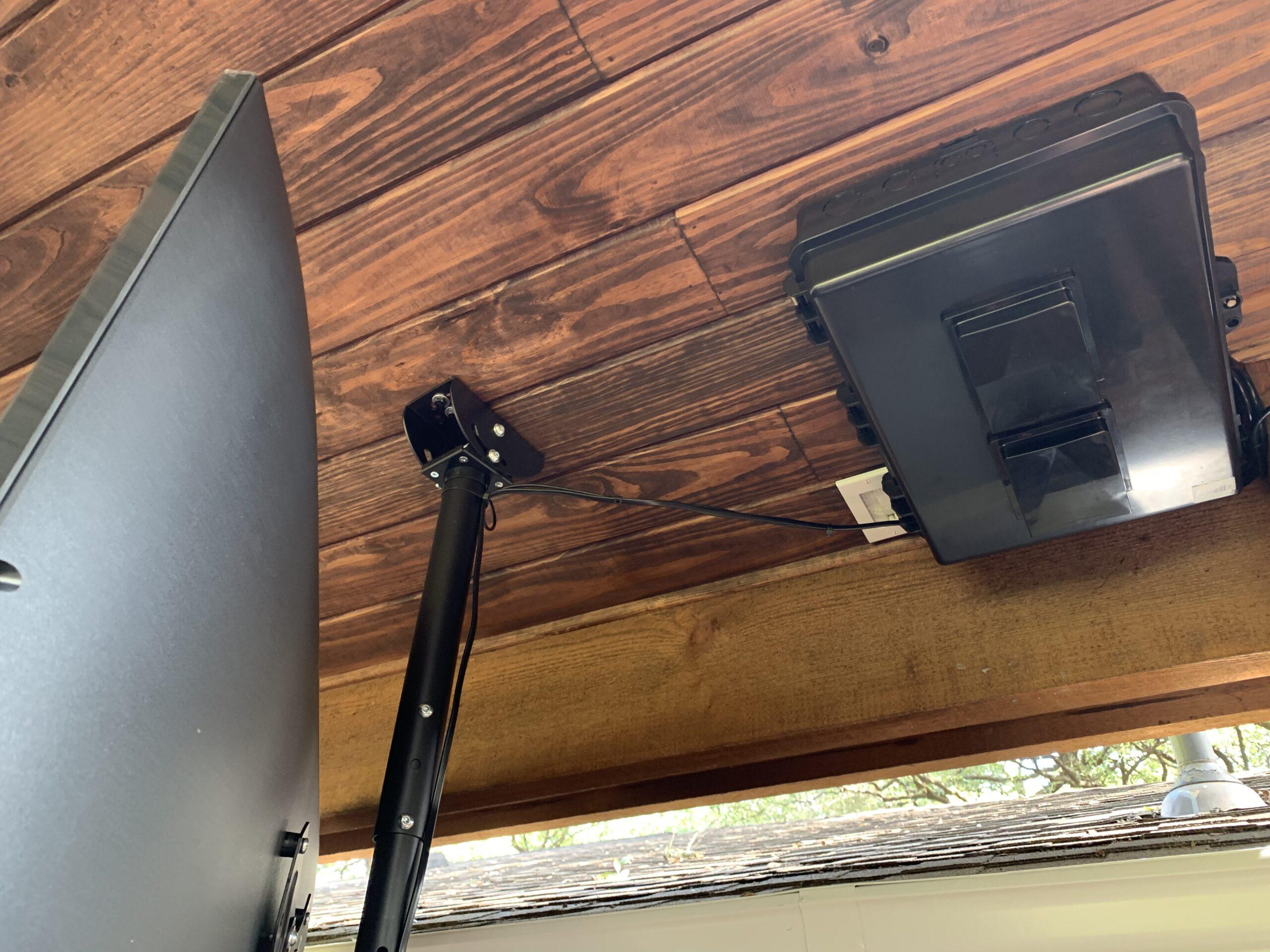Outdoor weatherproof audio video distribution