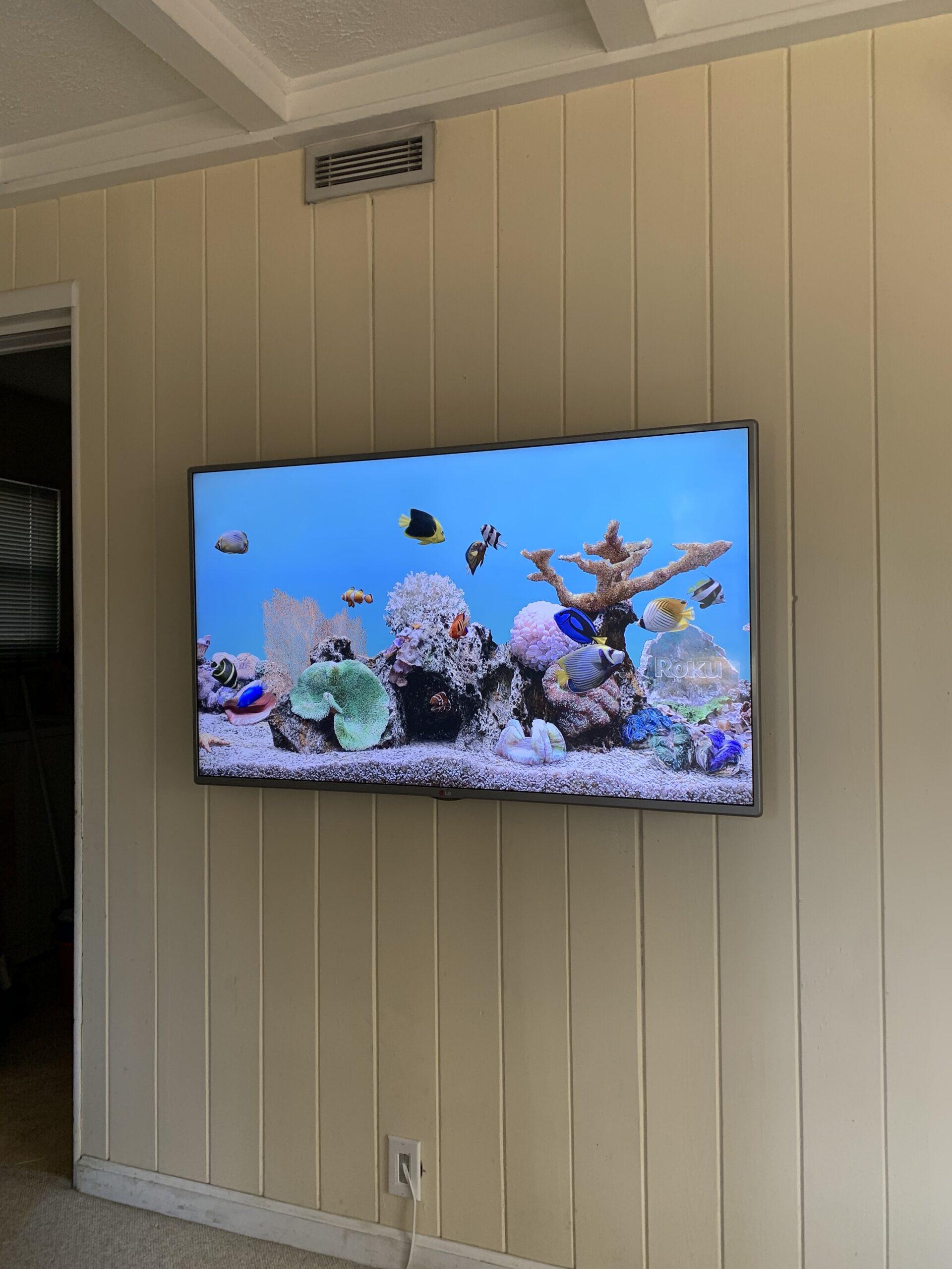 Samsung Framed TV install Austin Texas