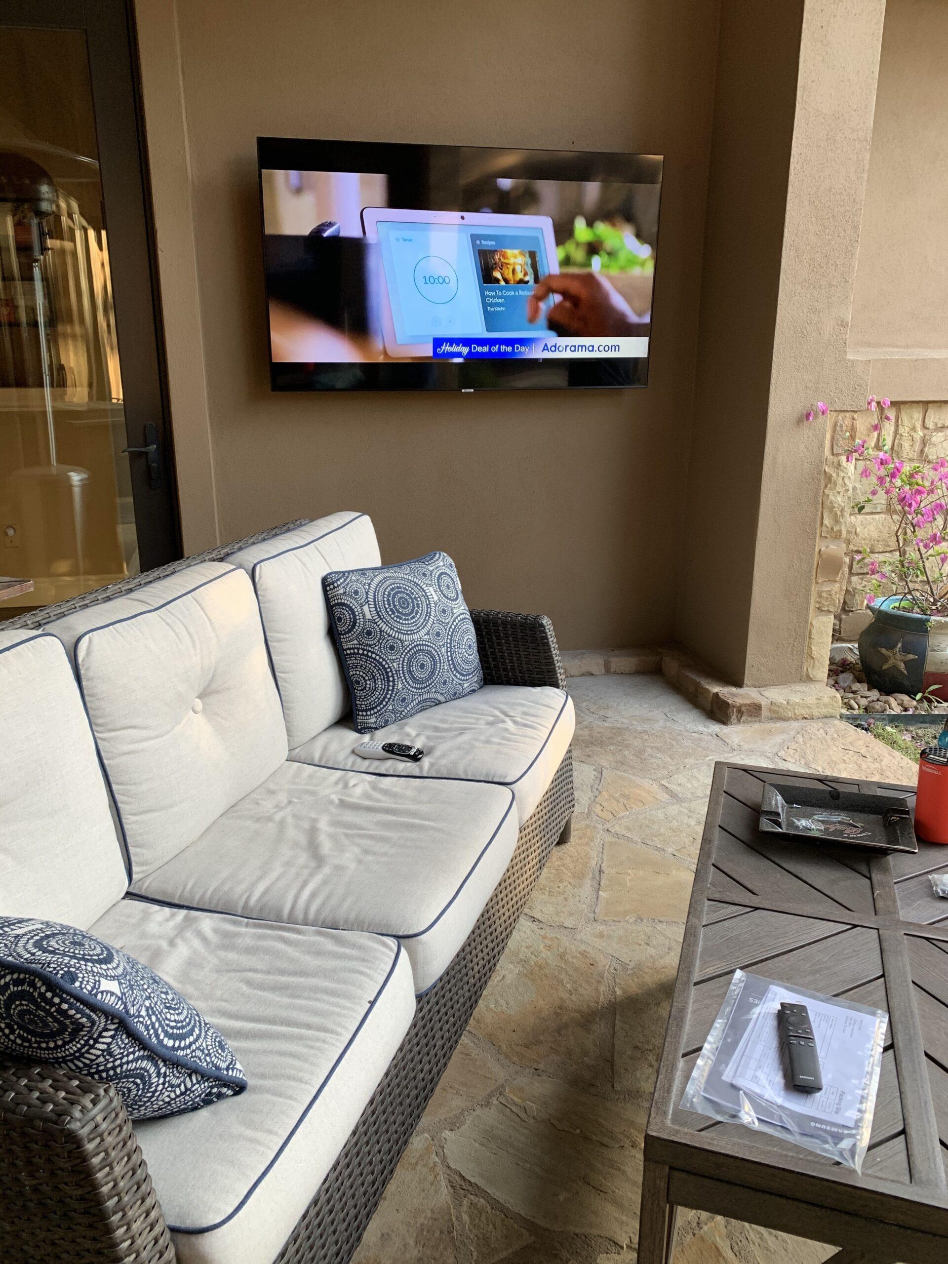 Media room mounted TV