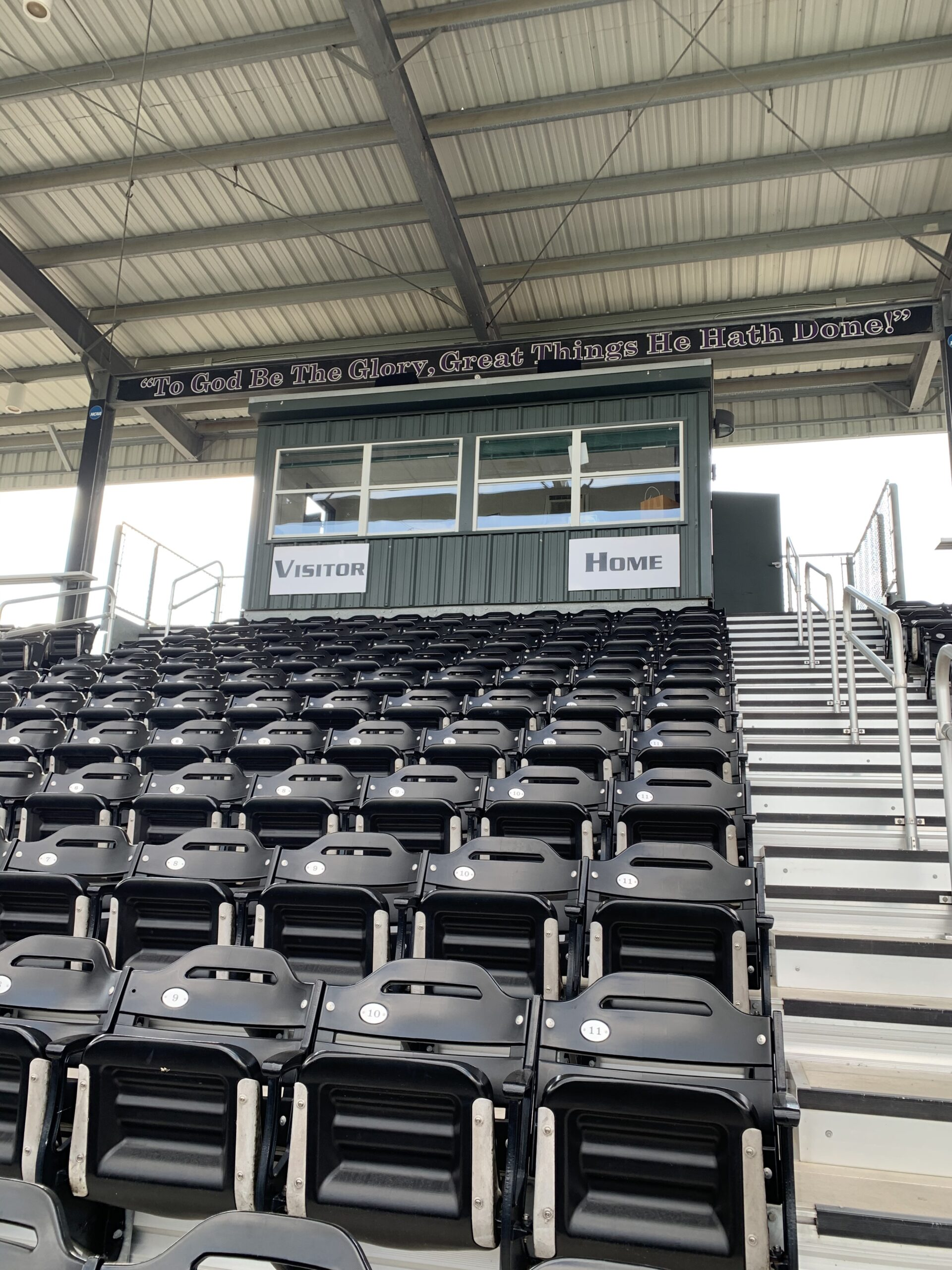 Stadium integrated with smart control system, with intercom and pristine sound outdoor sound system