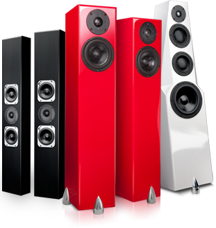 Totem home sound system speakers, home audio, and outdoor rock speakers