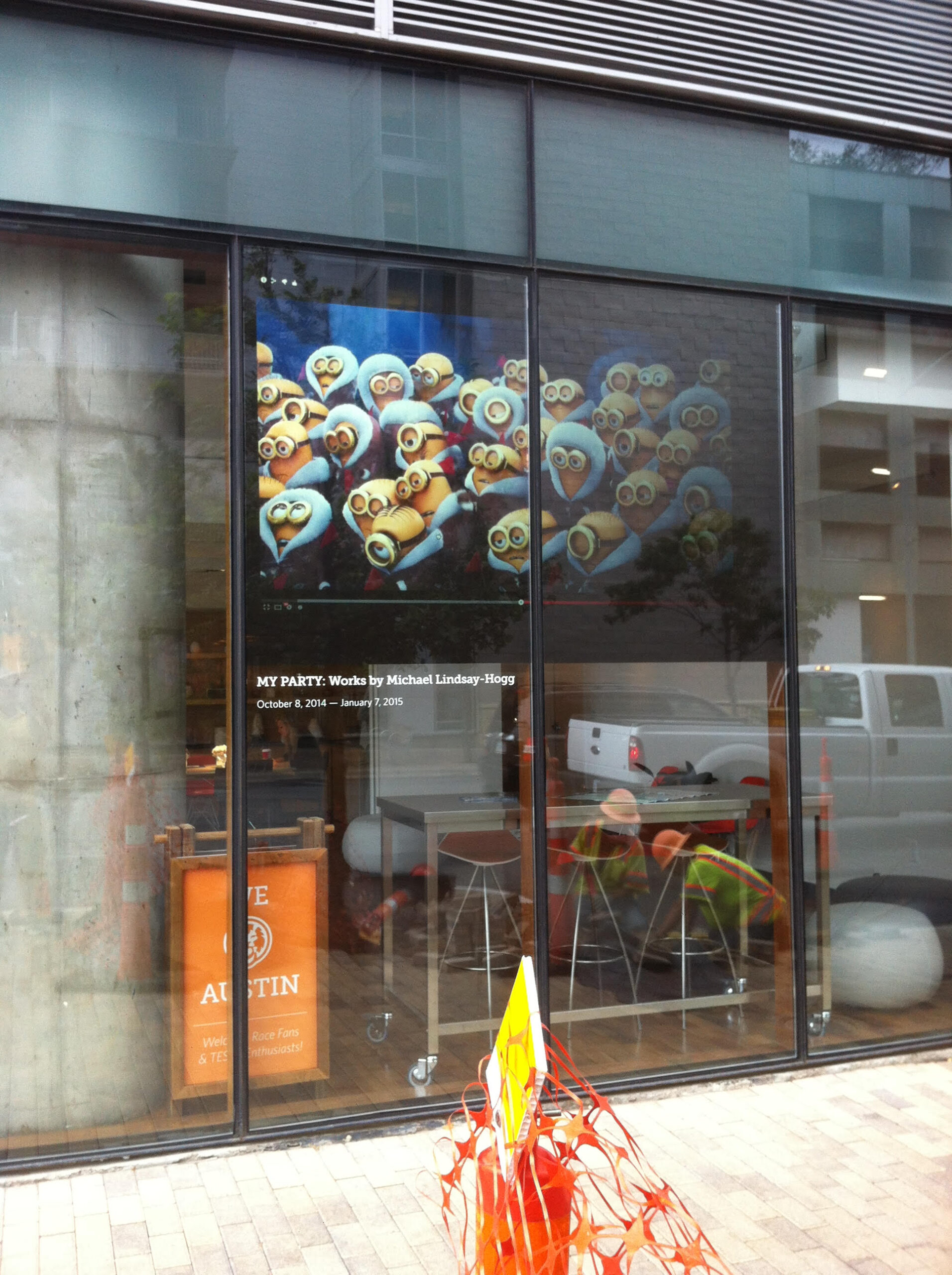 Retail projection on glass display with easy smart control