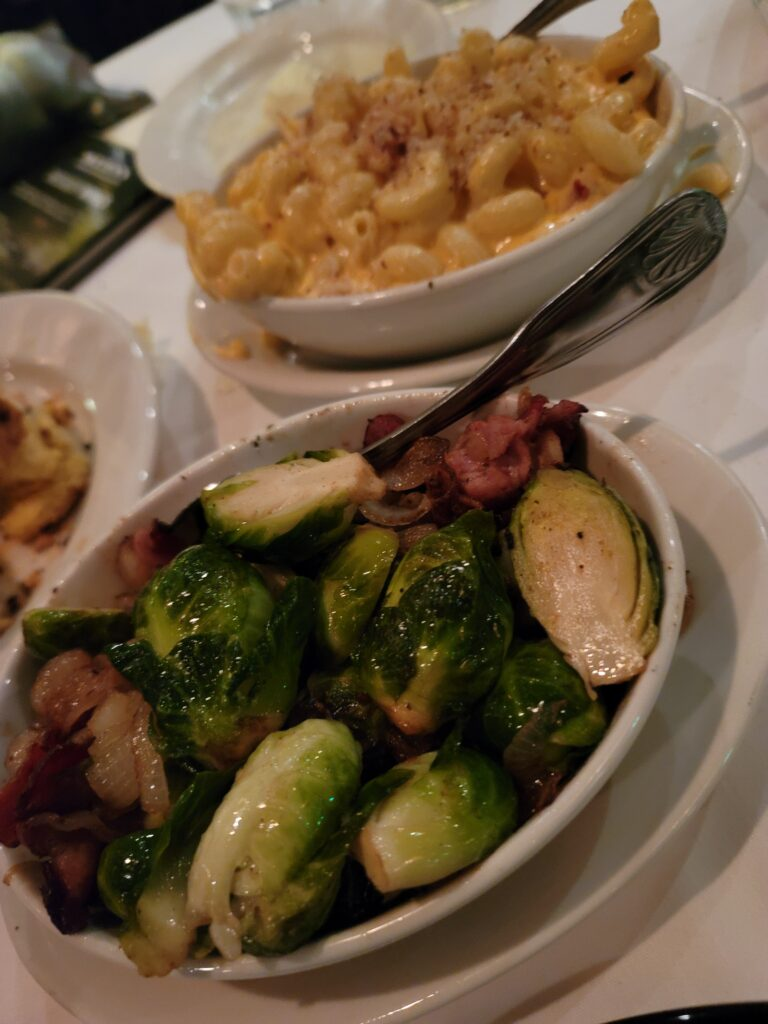 brussel sprouts lobster mac n cheese