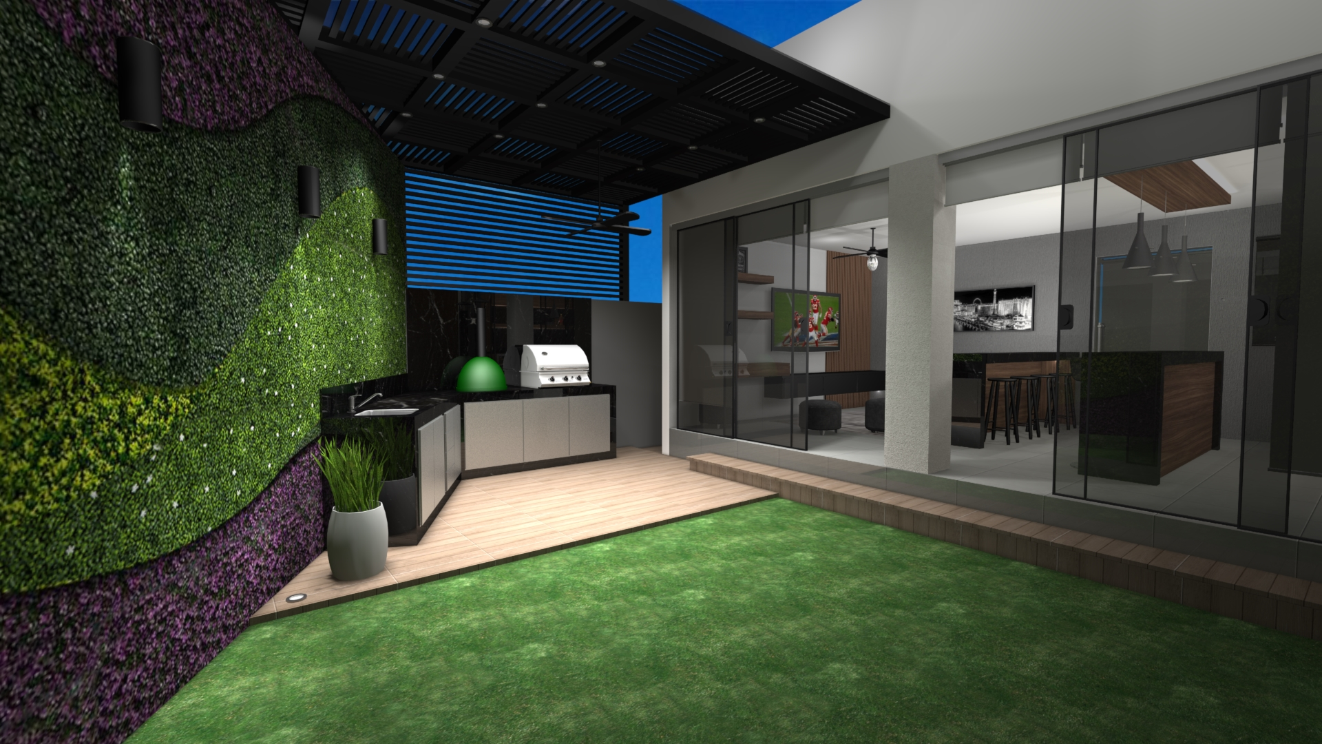 Render Proyecto Patio Country