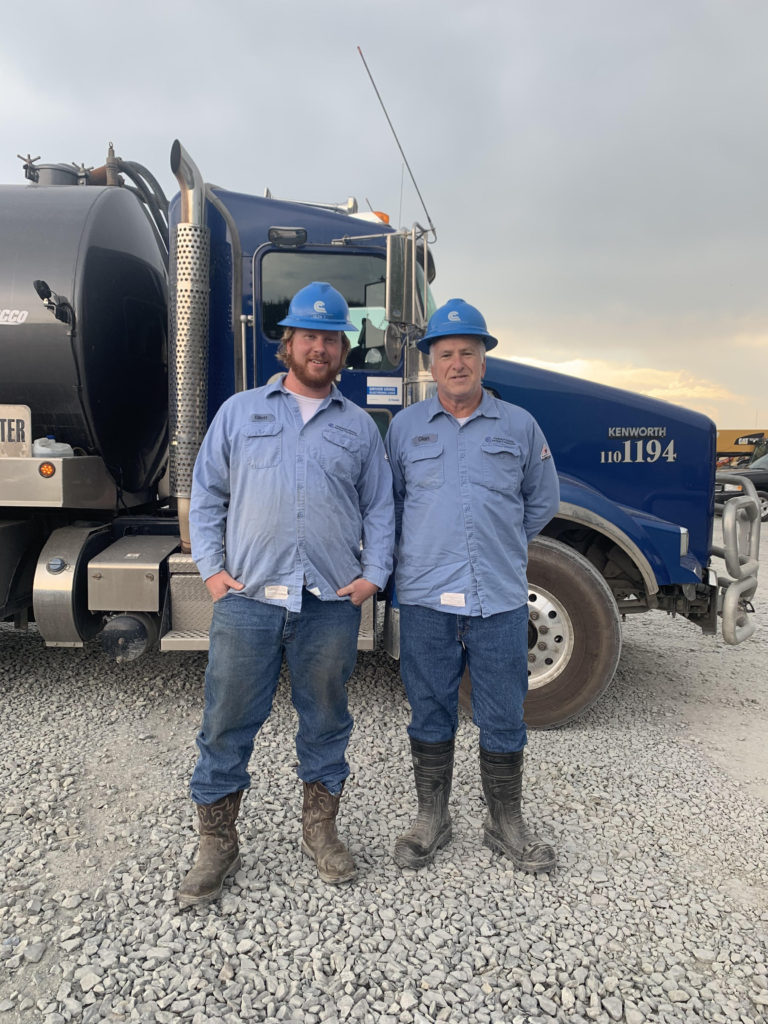 Father and son Water Haulers