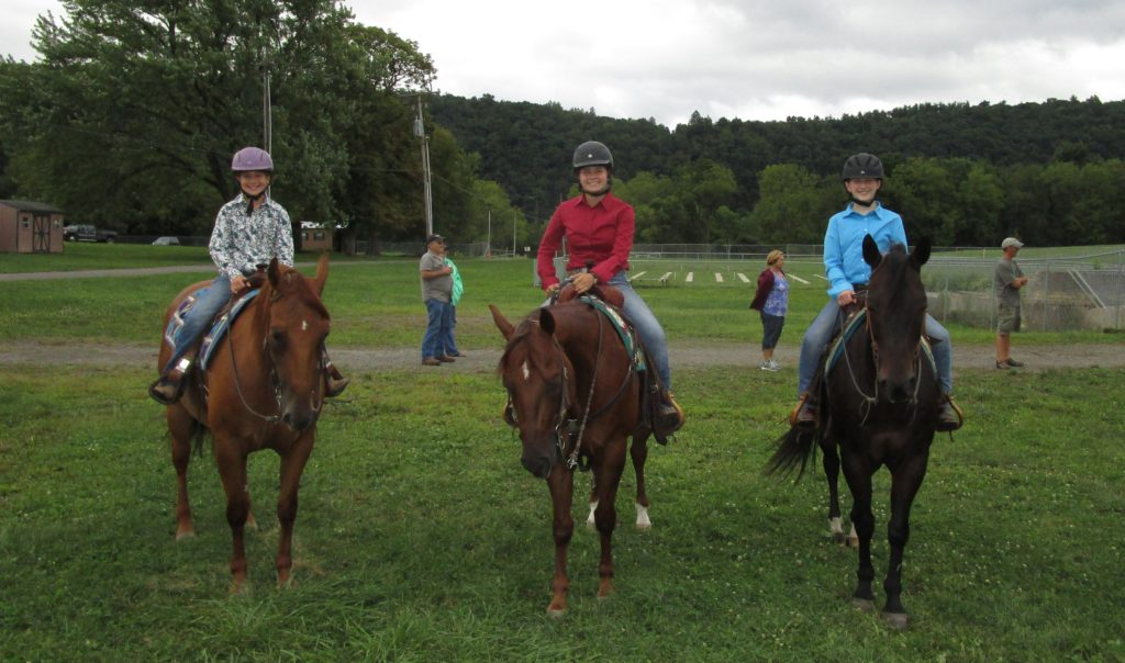 Horse show riders