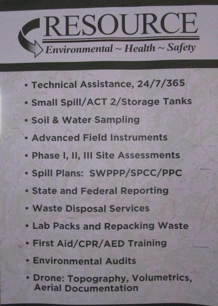 Resource Environmental Management flyer