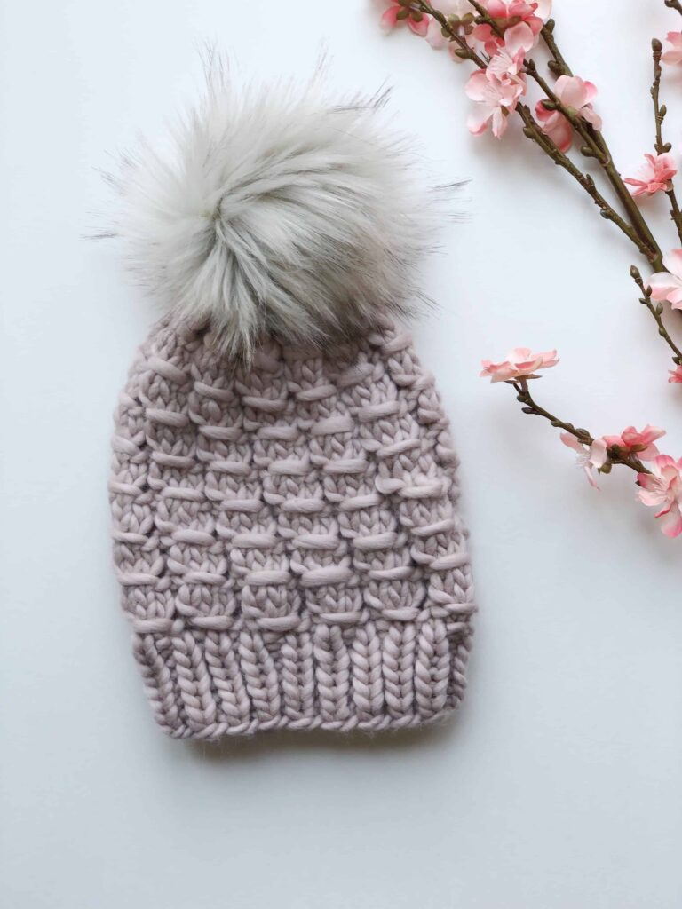 Chunky Knit Hat using We Are Knitters The Wool Yarn