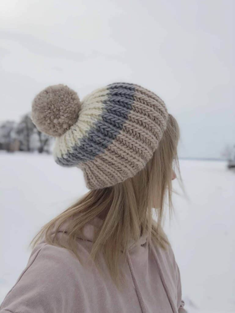 Slouchy Hat Knitting Pattern for winter