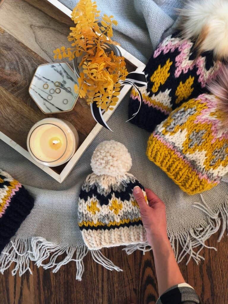 Newborn Fair Isle Hat Knitting Pattern