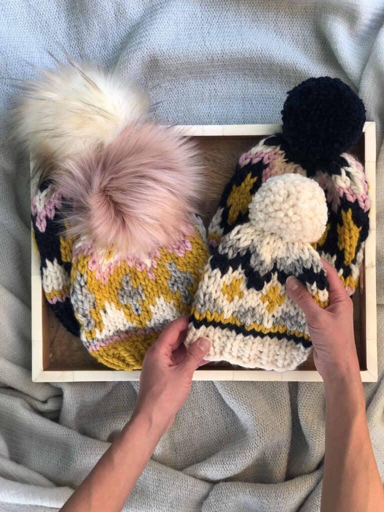 Fair Isle Hat Knitting Pattern for Beginners