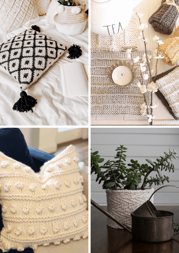9 Modern Home Decor Knitting Patterns to up your style game.