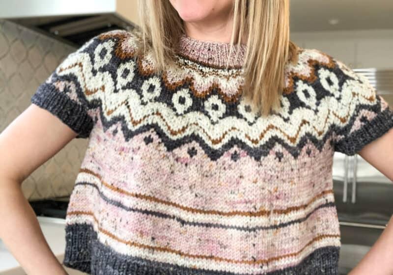 Fair Isle Crop Sweater knit along