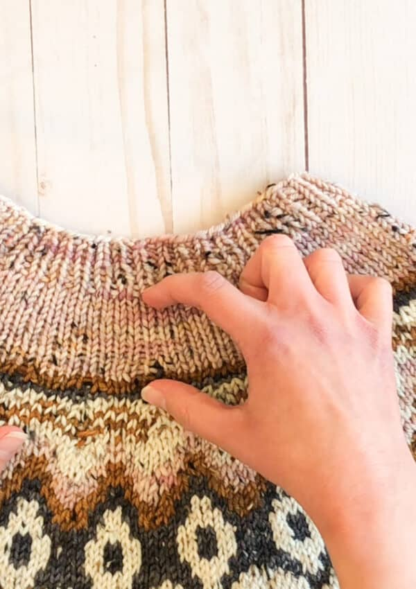 Knitting short rows wrap and turn method