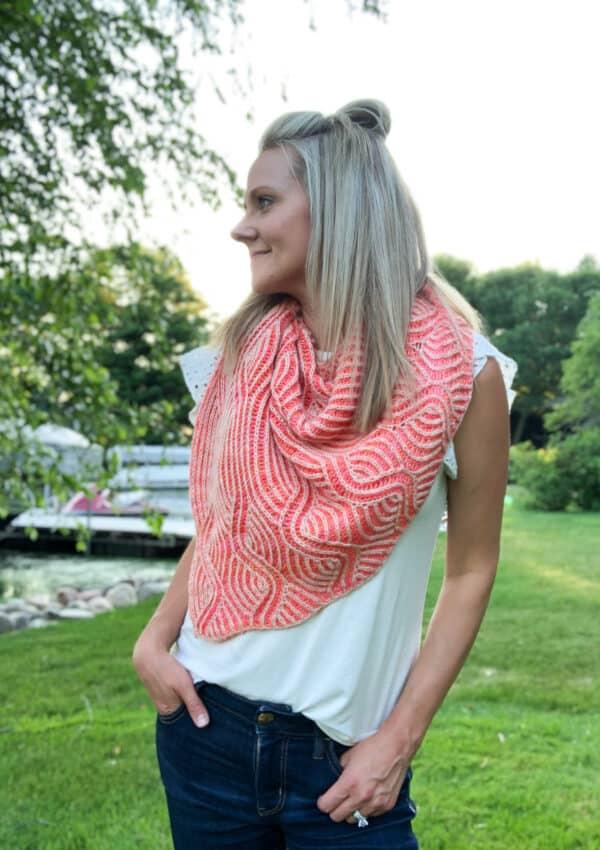 Pink Sky at Night -Shawl Knitting Pattern