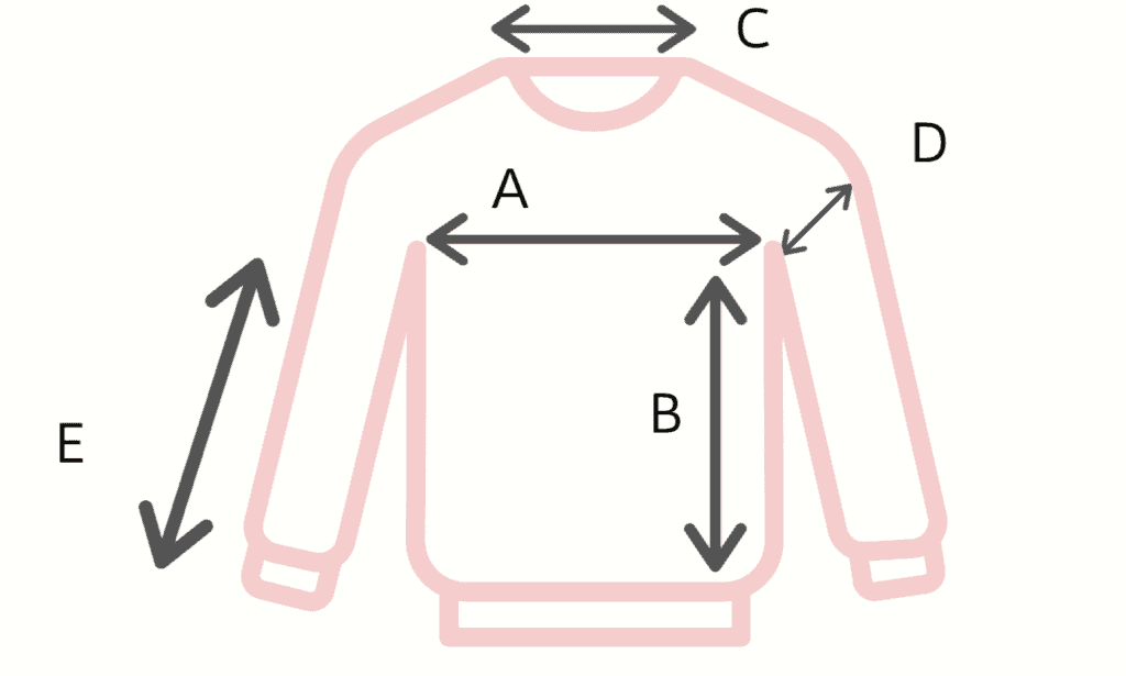 Easy Sweater Knitting Pattern Schematic