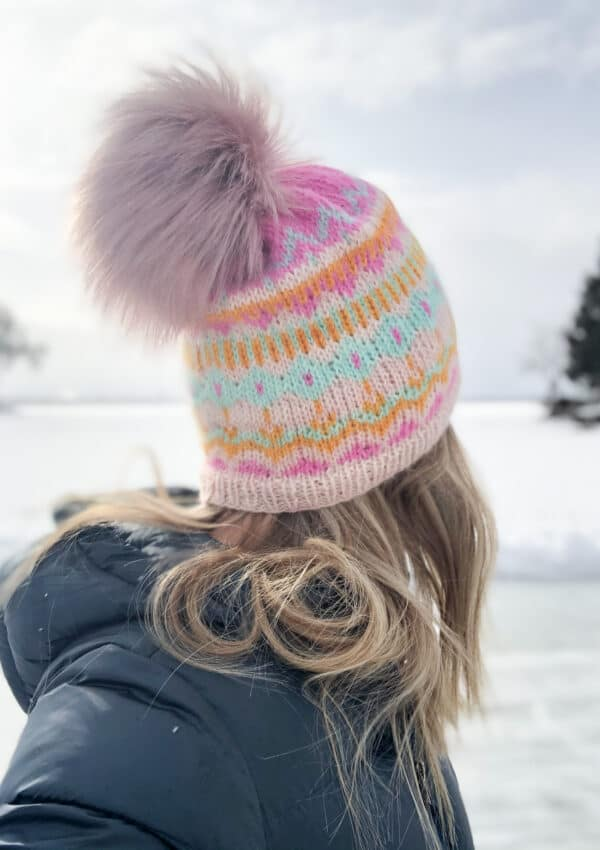 Winter Carnival Hat: Easy Fair Isle Knit Hat
